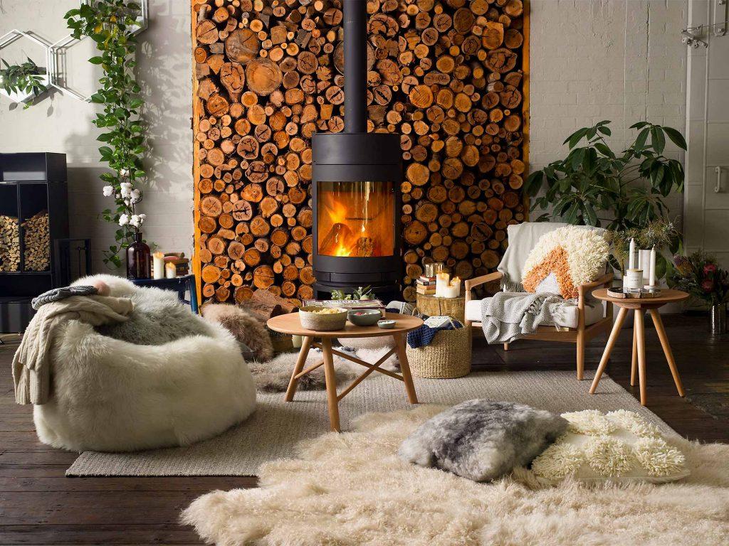 Lò sưởi phong cách scandinavian