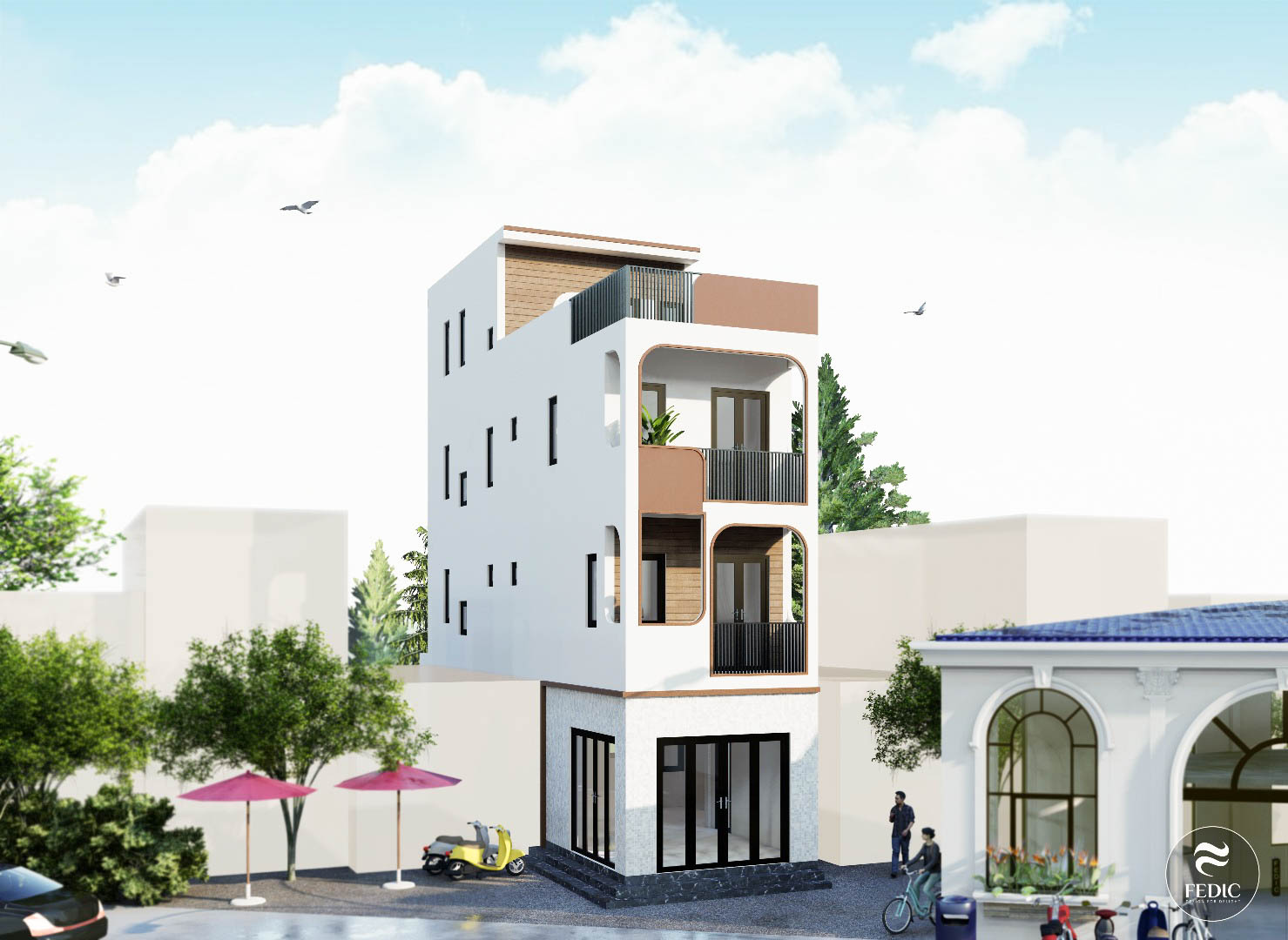 Kiến trúc nhà phố Song Hành-Fedic