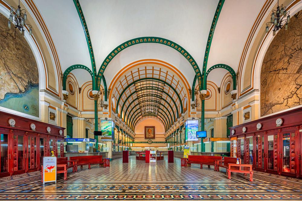 Kiến-trúc-mái-vòm-Bưu-điện-Sài-Gòn